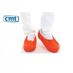 CMT CPE Shoe cover Red 410 x 150 mm 75 mµ Roughened 1000 pieces