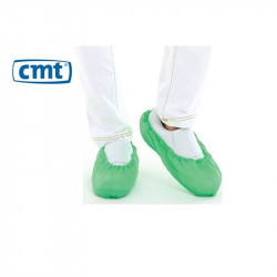 CMT CPE Shoe cover, Green, 360x150mm 40micron, roughened 2000