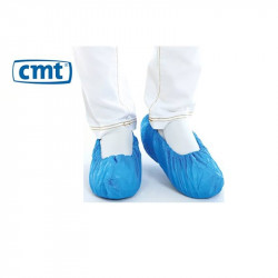 CMT CPE shoe cover, blue, 410 x 150 mm, 75 mµ, roughened 1000