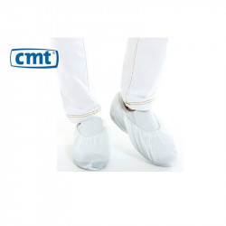 CMT CPE Shoe cover White, 410 x 150 mm 70 mµ Roughened 1000