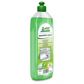 Greencare MANUDISH original sustainable hand dishwashing detergent, 1L