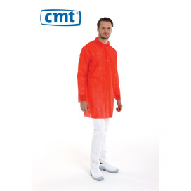 PP Non Woven Visitor Jacket Red L 40 Gr. 100 St.