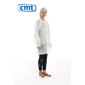 PP Non Woven Visitor Jacket White M 40 Gr. 100 St.