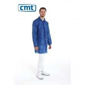 PP Non Woven Visitor jacket Velcro Blue L 40 Gr. 100 St.