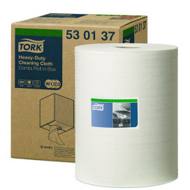 Tork Premium cleaning cloth, white non-woven, 530 Combi Roll