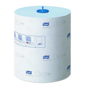 Tork Advanced towel roll 2-ply blue 150 mtr x 21 cm box of 6