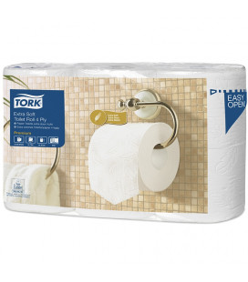 Tork Premium toilet paper 4-ply white 19 mtr x 10 cm pack of 42 rolls / 153 sheets (7x6)