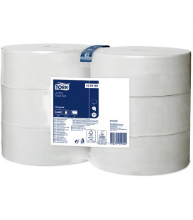 Tork Universal toilet porridge jumbo 1-ply white 480 mtr x 10 cm pack of 6 rolls / 2400 sheets