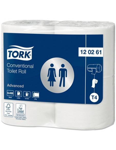 Tork Advanced toilet porridge King-Size 2-ply white 69mtr x 10cm pk à 24rol / 496 sheets (6x4)