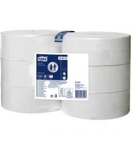 Tork Advanced jumbo toilet paper 2-ply white 360 mtr x 10 cm pack of 6 rolls