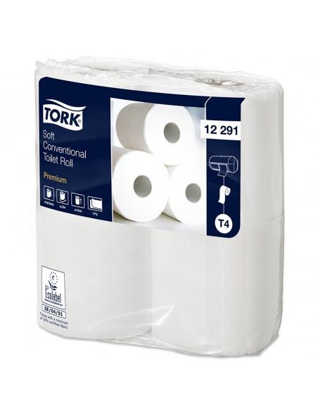 Tork Premium toilet paper 2-ply white 50 mtr x 10 cm pk with 48 rolls / 198 sheets (12x4)