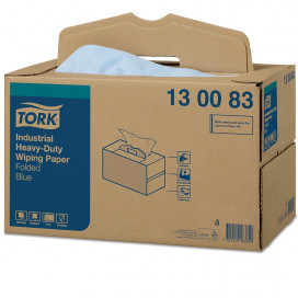 Tork Adv. Wiper 440 Perform. 3-ply blue 39x32 cm box with 200
