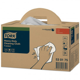 Tork Premium 530 work cloth 1-ply white 64x39 box with 120