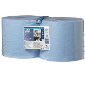 Tork Adv. Wiper 420 Perform. 2-ply blue 255 mtr x 24 cm pack of