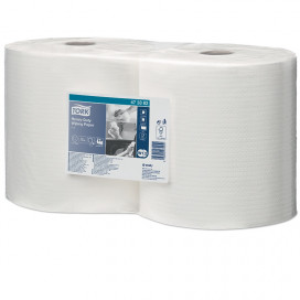 Tork Heavy-Duty Soft Combi Roll Poetsp. white, 117m x 25.5cm