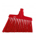 Vikan Hygiene 2914-4 corner broom, red hard long oblique fibers, 290 mm