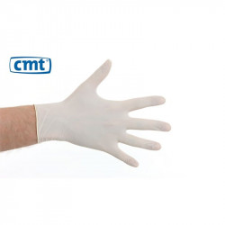 CMT latex gloves powdered white 100 pieces