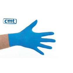 CMT latex gloves powdered Blue 100 pieces