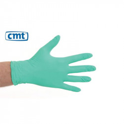 CMT Soft Nitrile Powder-free Gloves Green 100 pieces