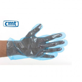 CMT PE Gloves, Blue, Roughened 30cm, 25my 100 pieces