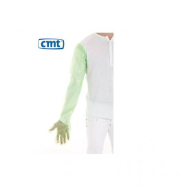 CMT ldpe Veterinary Gloves, Green smooth, 25my, 92cm 1000 pieces