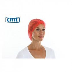 CMT PP Non Woven Hair Net Red 100 Pieces